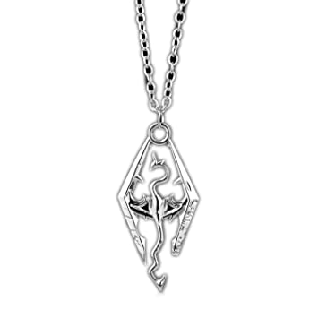 Amazon com: Dragon The Elder Scrolls Pendant Necklace Skyrim