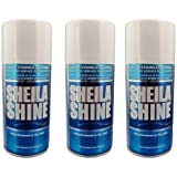 Sheila Shine Stainless Steel Cleaner and Polish, 10 oz Aerosol, Made in USA, Pack of 3 x 10 oz