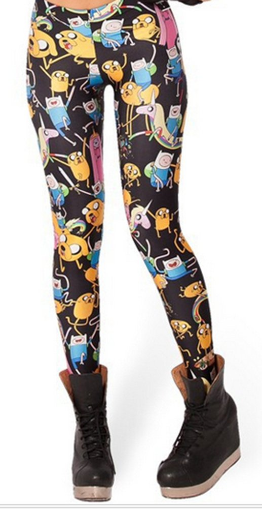 SaySure - EAST KNITTING BL-292 Adventure Time Bro Ball Leggings 2013 fashion new women Digital print Galaxy Pants (COLOR : 18 | SIZE : S)