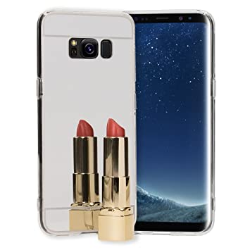NALIA Funda Espejo Compatible con Samsung Galaxy S8, Protectora Movil Carcasa Silicona Ultra-Fina Gel Bumper Mirror Case, Goma Cubierta Telefono ...