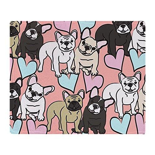 CafePress French Bulldogs Soft Fleece Throw Blanket, 50