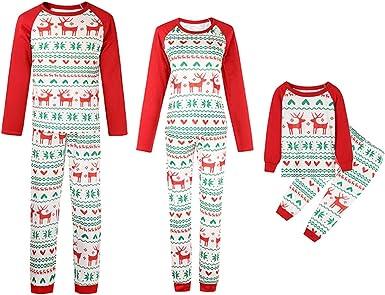 Juleya Feliz Navidad Juego de Pijamas a Juego para la Familia ...