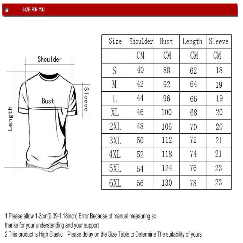 3D-Digitaldruck Darts Target T-Shirt Kurz/ärmeliges T-Shirt f/ür europ/äische und amerikanische M/änner mit Rundhalsausschnitt