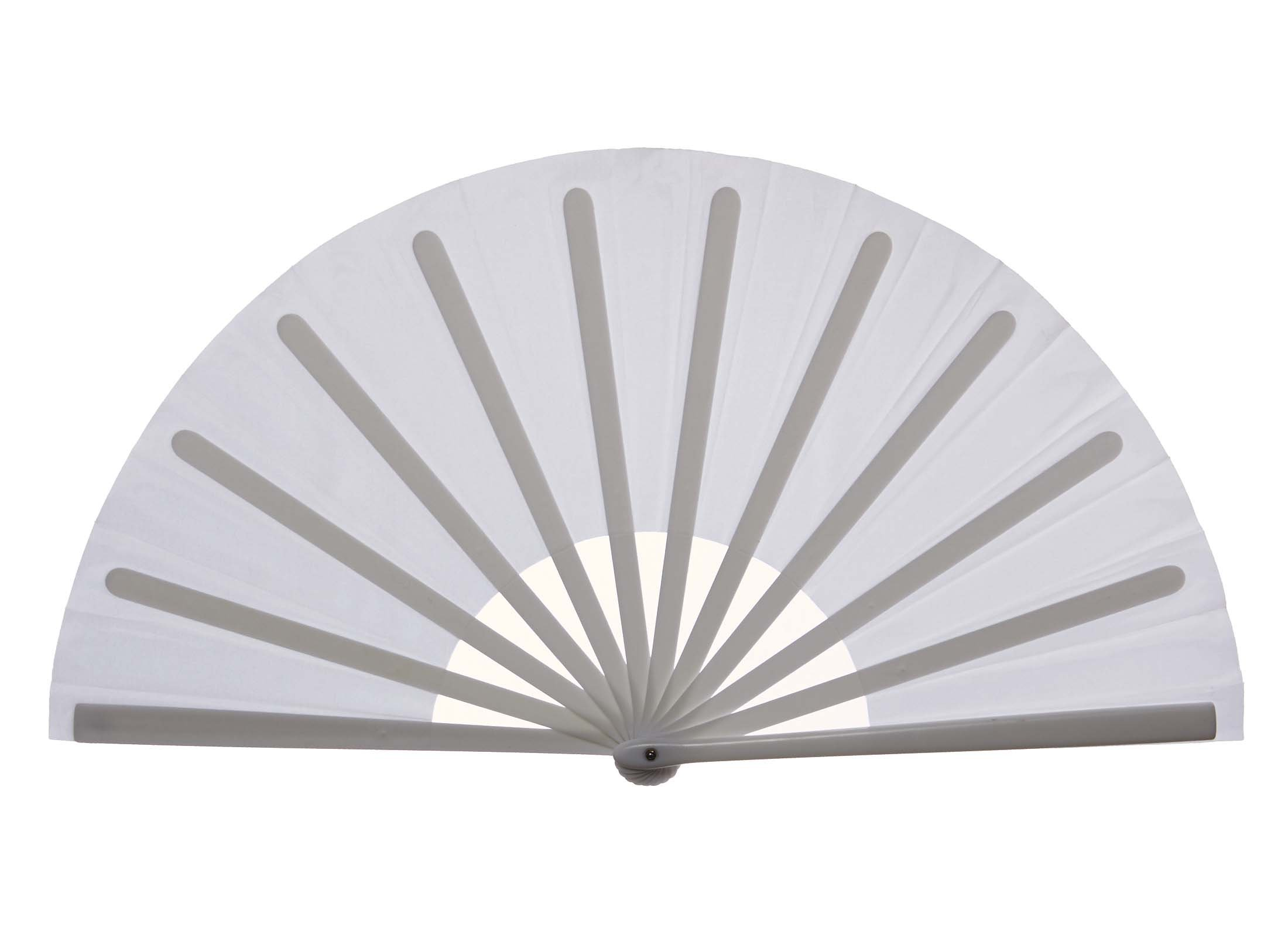 Chinese Nylon-Cloth Fan for Ladies, White