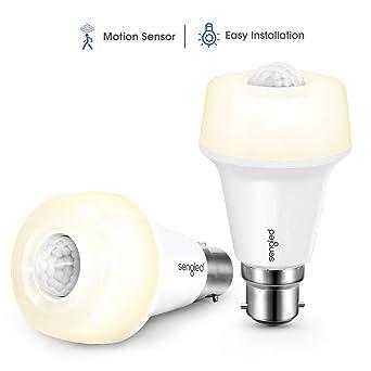 Sengled Bombilla LED Sensor Movimiento B22 Bombilla Infrarrojo Inteligente Auto Encendido/Apagado Luz blaco suave