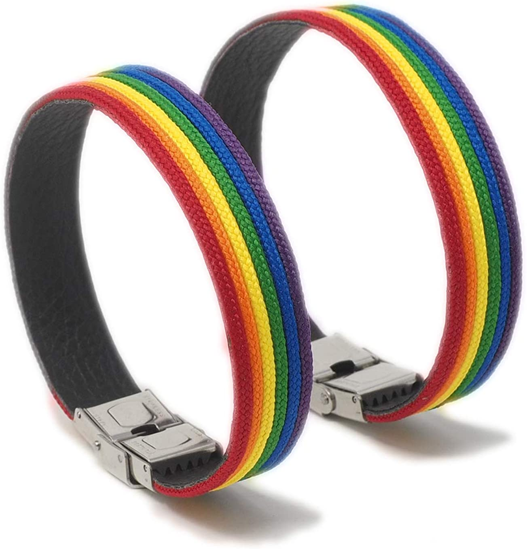 GOS Best Supplies Pack 2 Pulseras Arcoiris | Multicolor | Rainbow: Amazon.es: Joyería