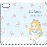 グルマンディーズ iPhone8/7(4.7インチ) ケース フリップカバー ディズニーキャラクター アリス dn-465b