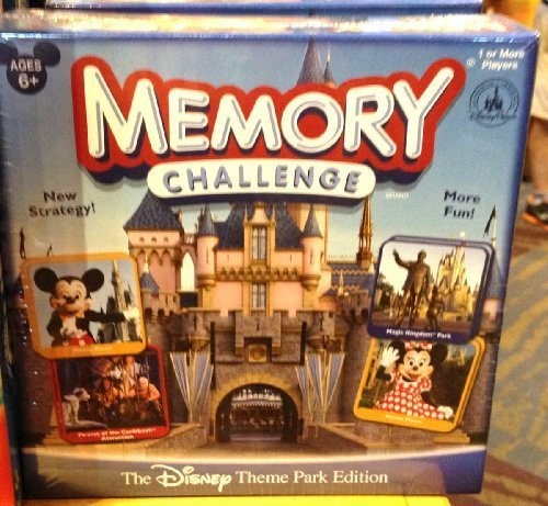 - Disney Theme Park Edition Memory Challenge Game