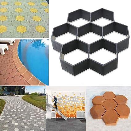Moldes de concreto para Carreteras, DIY Camino Reutilizable Camino de pavimentación de Ladrillos Patio de
