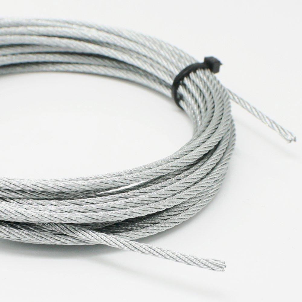 3m Stahldraht 2mm verzinkt 6x7-FC Drahtseil Seil rostbest/ändig Belastbarkeit 45kg Vielzweckleine Bilder-Seil Stahldrahtseil Windenseil Top Qualit/ät nach DIN EN 12385-4:2002