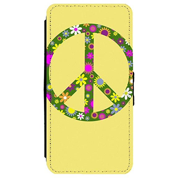 Amazon Image Of Peace Sign With Flowers On Light Yellow