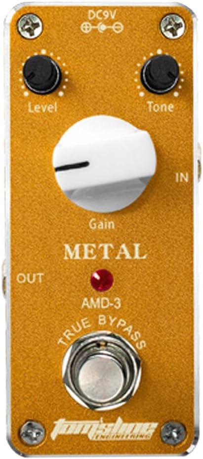 B Blesiya 1x Pedal de Efecto de Guitarra Caecasa Compeleta de Metal AAS-3 para Amantes de Música Conjunto de Recolección - Dorado, tal como se describe