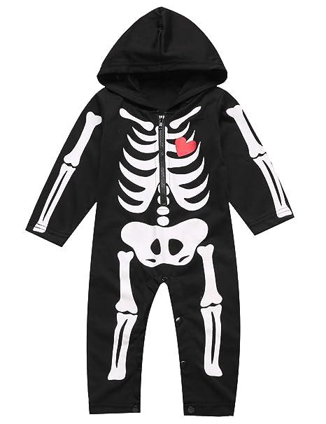 Amazon.com: Disfraz de hueso de calavera para Halloween ...