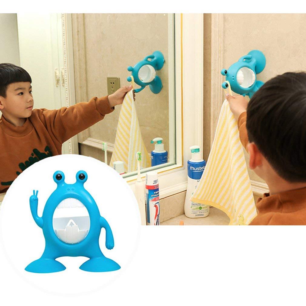 GreatWall Porte-Brosse /à Dents pour Enfant cr/éatif Porte-Brosse /à Dents /à Ventouse puissante Bleu