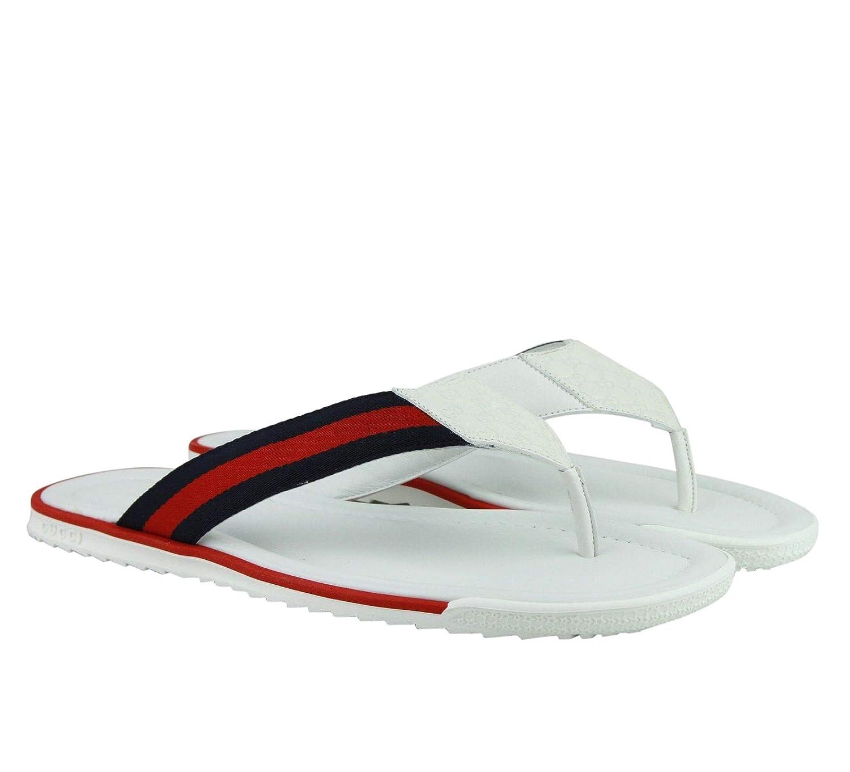 Amazon.com Gucci Flip,Flop White Guccissima Leather Sandals