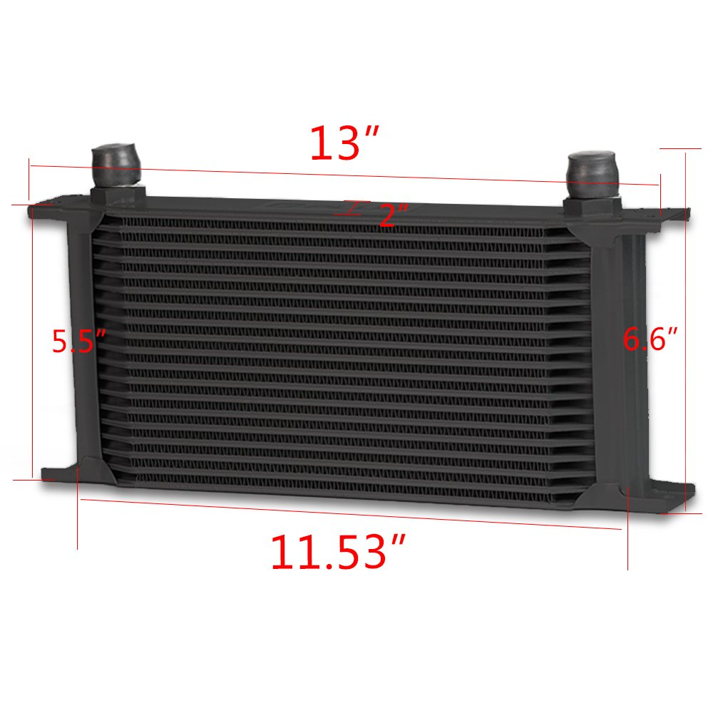 Universal 19 Row An-10an Universal Engine Transmission Oil Cooler Black Color