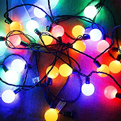 (Heavy Duty)G40 Globe Outdoor String Lights,17 Ft 25 LED Garden Patio Bar Wedding Party Christmas Lights Mood Lighting for Indoor Outdoor Use,2 Fuses Include MAXINDA