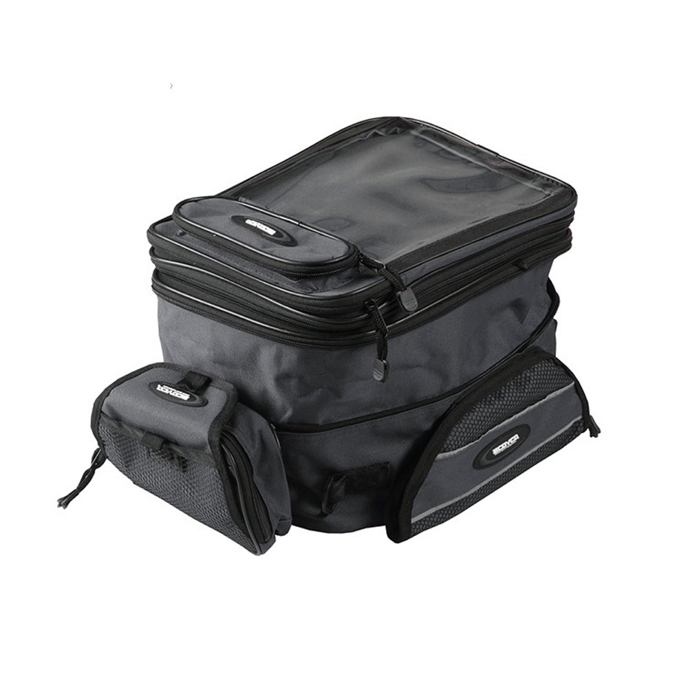 Logas Motorcycle Windshield Tank Bag Leather Waterproof Luggage Tail Bags for Motorbike