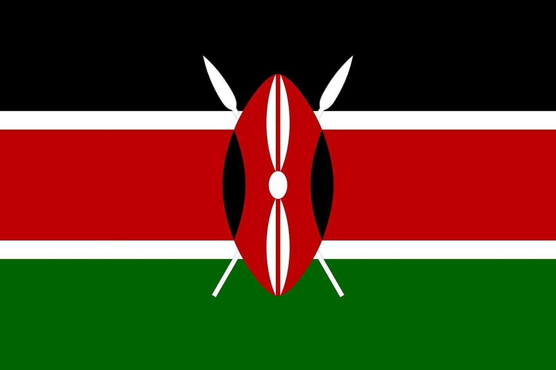 Kenyan Flags 60 x 90 cm Banner 2x3 ft Drapeau Kenya AZ FLAG Kenya Flag 2 x 3