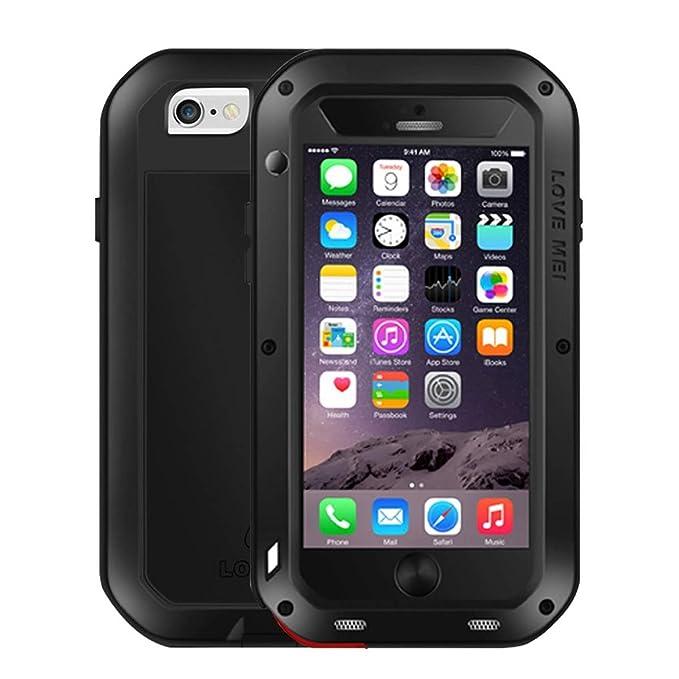 2 opinioni per iPhone 6S / 6 Custodia, Love Mei Metal [Alluminio] e Silicone Antiurto [Ultra