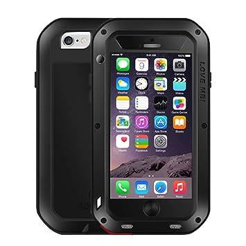 iPhone 6S / 6 Funda, Love Mei Metal [Aluminio] y Silicona Antigolpes [Ultra Resistente] Antichoque Protector de Pantalla [Cristal Gorila Glass] ...