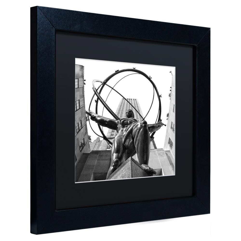 Amazon com atlas rockefeller center by cateyes black matte black frame 16x16 inch home kitchen