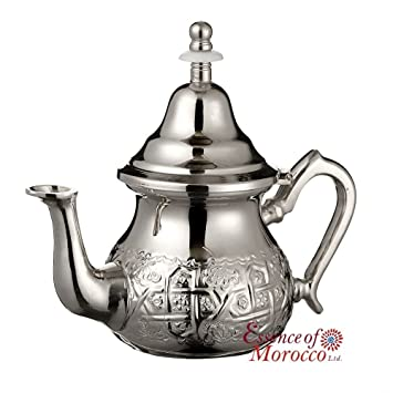 bc322715fab Essence of Morocco Moroccan Silver Teapot with Handle Cover and Integrated  Filter. Engraved. Authentic