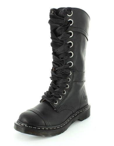 Femme Dr. Martens Triumph 1914 W Combat Boot Noir Leather