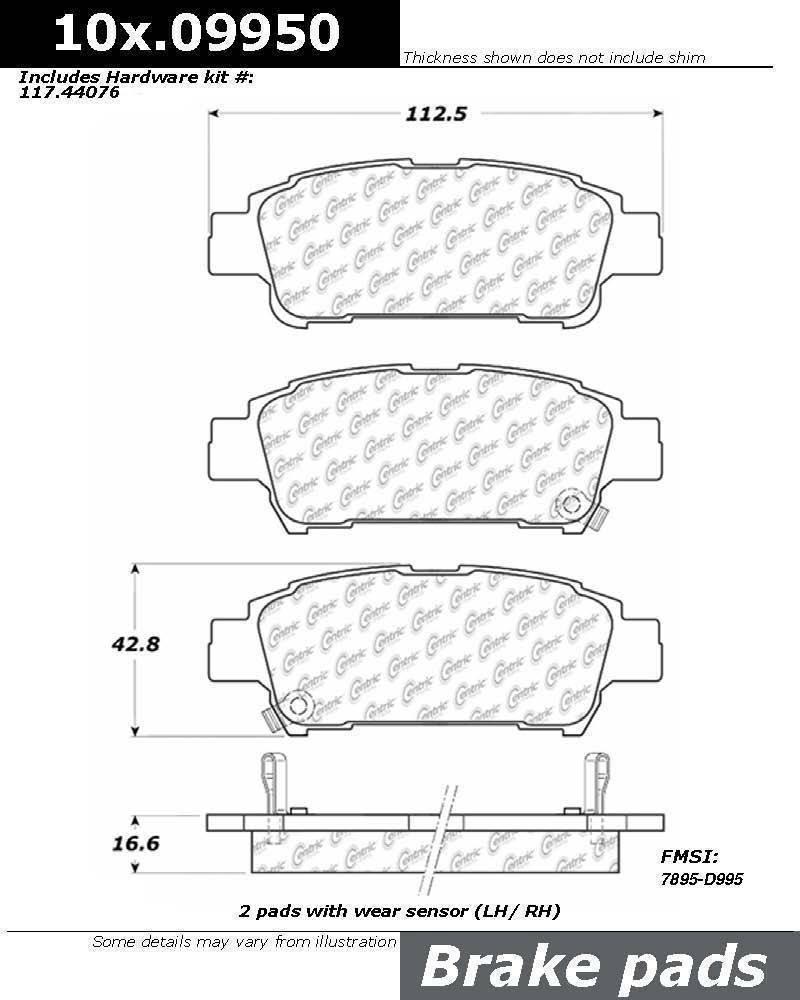 Posi Quiet Brake Pad 105.09950 Ceramic Centric