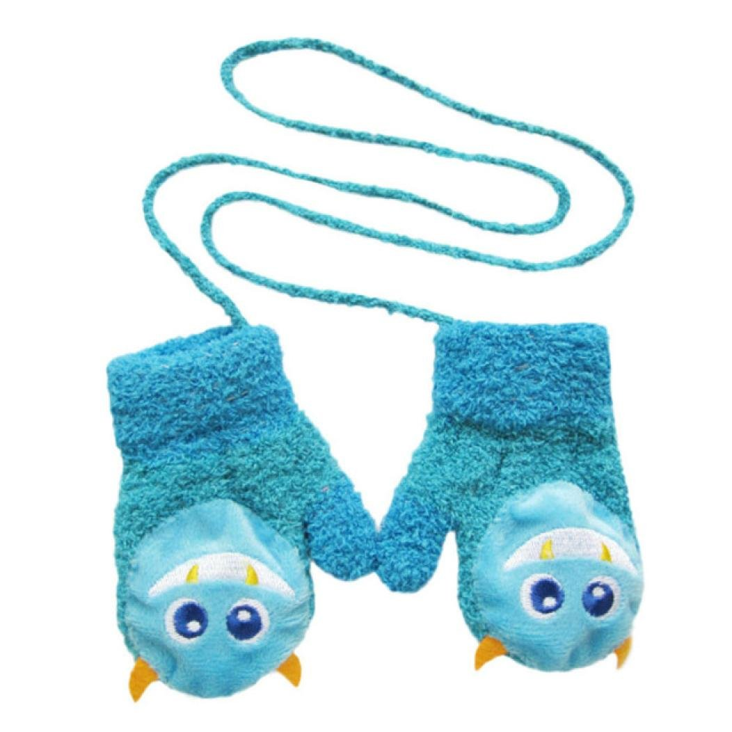 Cute Cartoon Hot Gloves Muium Infant Baby Boys Girls Winter Thicken Warm Gloves For 1-5 Years Old