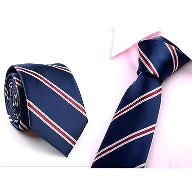 HCFKJ Hombres Corbata Business Professional Classica Casual Slim ...
