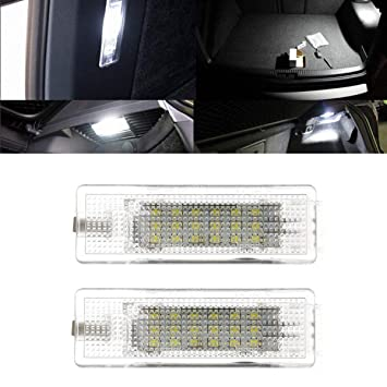 YUGUIYUN Luz de Maletero sin Errores Bombilla de Repuesto Luz de Puerta 18 LED Xenon Blanco