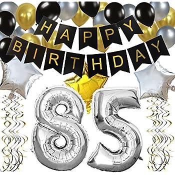 Amazon KUNGYO Classy 85TH Birthday Party Decorations Kit Black