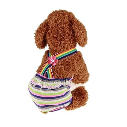 Decdeal - Bragas Sanitarias para Perros Elásticas de Algodón Pantalones de Pañal para Mascotas
