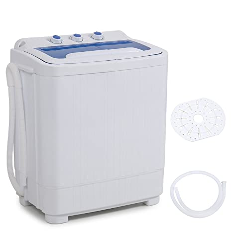 Superieur DELLA Mini Electric Washing Machine Home Twin Tub 8.8LBS Portable Compact  Washer U0026 Spin Dry Cycle Built In Pump W/Hose, White