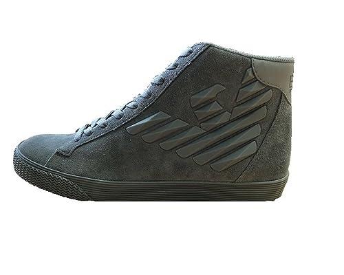 Emporio Armani - Zapatillas de tela para hombre: Amazon.es: Zapatos y complementos