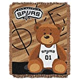 NBA San Antonio Spurs Half Court Woven Jacquard Baby Throw Blanket, 36x46-Inch