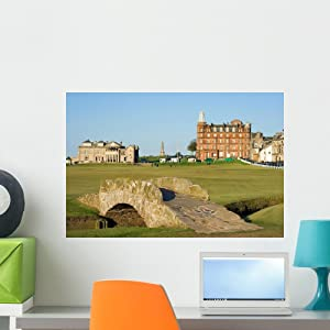 Wallmonkeys FOT-31021204-24 WM31503 The Famous Swilcan Bridge on St Andrews Old Course Peel and Stick Wall Decals (24 in W x 16 in H), Medium