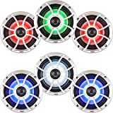 Wet Sounds Bundle: Three pairs of XS 65i Series Silver Grill 6.5'' Speakers w/ RGB LED. 60 Watts RMS Each