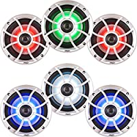 Wet Sounds Bundle: Three pairs of XS 650 Series Silver Grill 6.5 Speakers w/ RGB LED. 100 Watts RMS Each