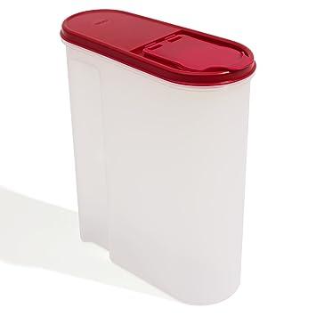 vorratsbehalter 5 liter dose fa 1 4 r ma sli mehl zucker rot bordeaux behalter cornflakes tupperware