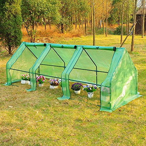 New 9'x3'x3' Greenhouse Gardening Flower Plants Yard Mini Hot Green House (Frog Candle Lantern)