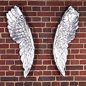 Design sculpture wings decoration for walls angel figure for Angel wings wall decoration uk