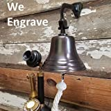 Engraved 7 Inch Bronze Patina Brass Wall Bell