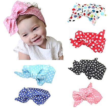 Baby Girls Cute Bow Cotton Headband Elastics For Newborns Elastic Hair Head Band