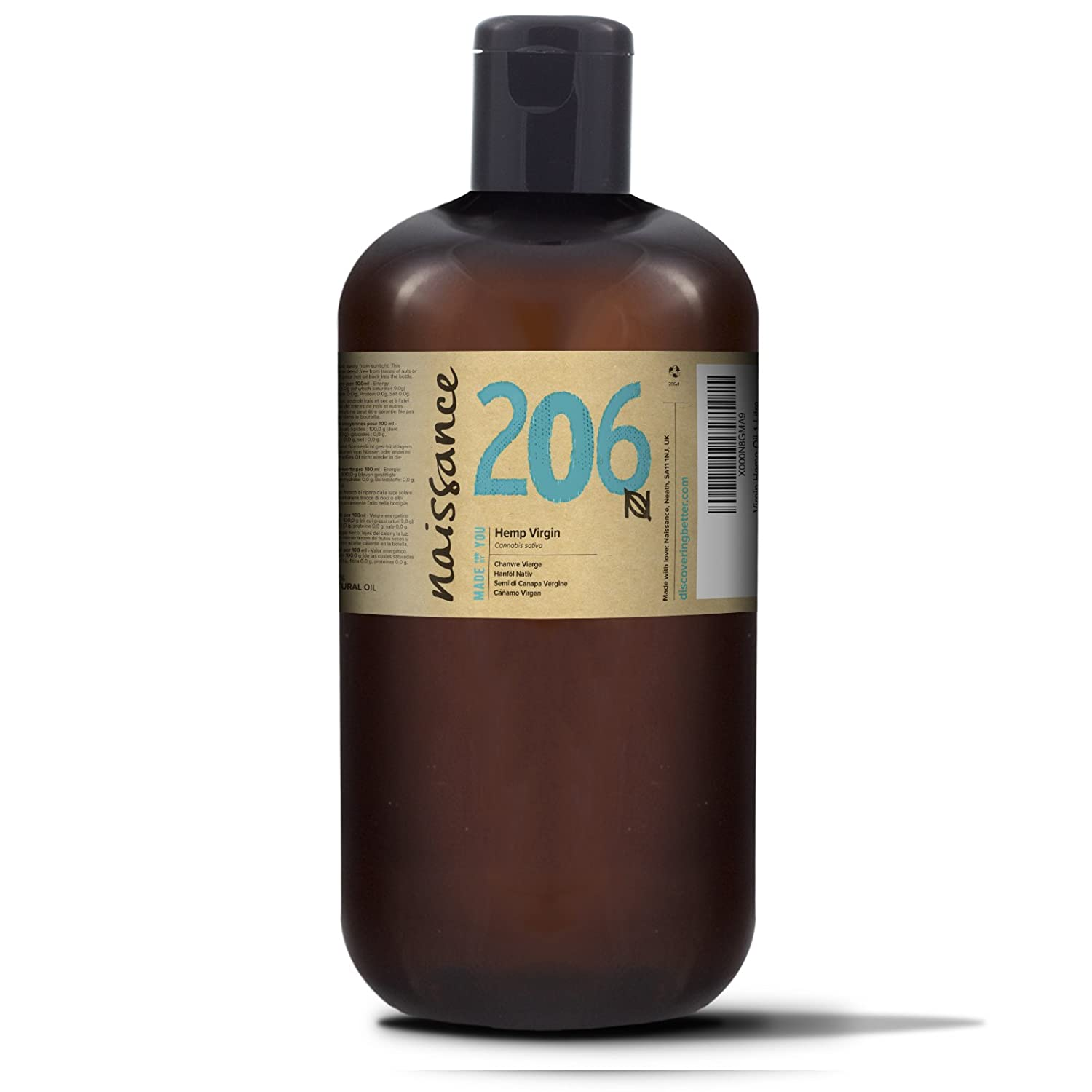 naissance cold pressed virgin hemp seed oil no 206 1 litre pure