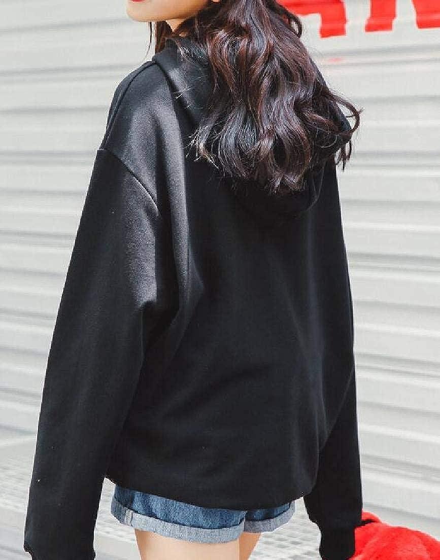 YYear Womens Pullover Loose Long Sleeve Drawstring Sweatshirts Hoodies Tops