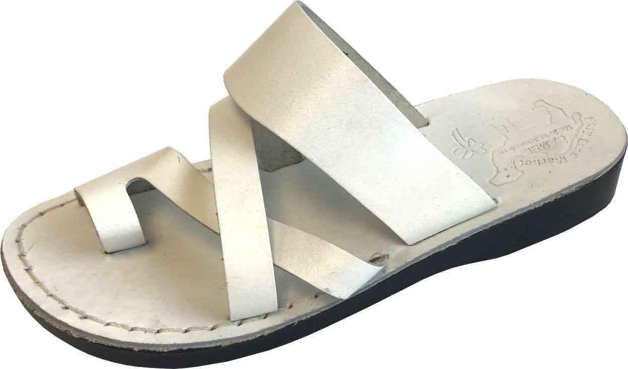 Unisex White Biblical Sandals (Jesus-Yashua)-Shepherd's Field Style II - EU 38