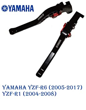 Maneta palanca de embrague y de freno regulable con logo para Yamaha YZF-R6 (2005-2017) corto: Amazon.es: Coche y moto