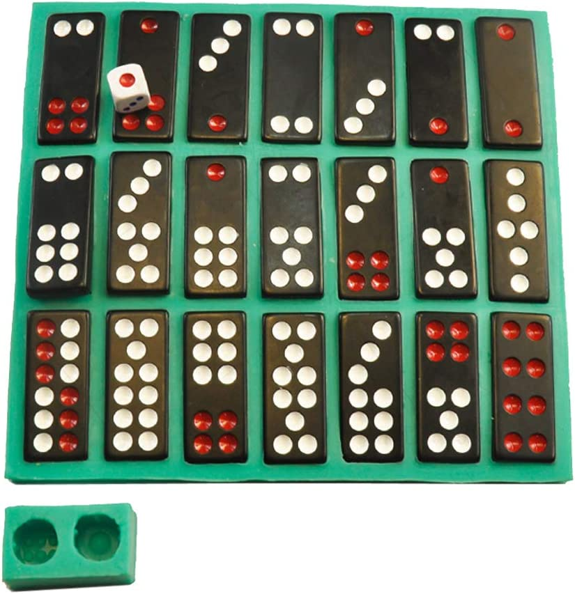 Mold Dominoes Game Casino Fun Chocolates Caak Baking Mould Art Crafts chefensty Chinese Pai Gow Paigow Tiles Game Dice Epoxy Resin